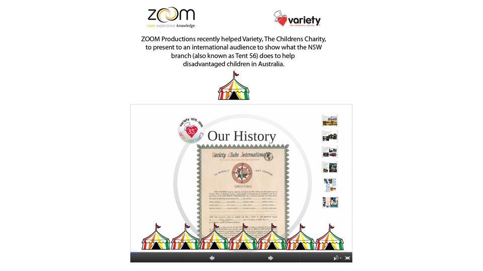 variety, prezi, presentation, zoom productions, sydney, digital, agency