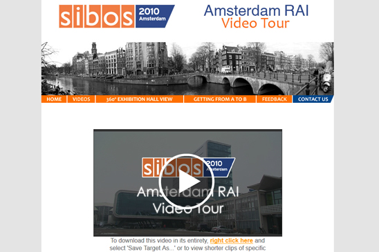 sibos amsterdam, video tour, zoom productions, 360 degree immersive photography, virtual tours, conference website, video, photography, floor plans