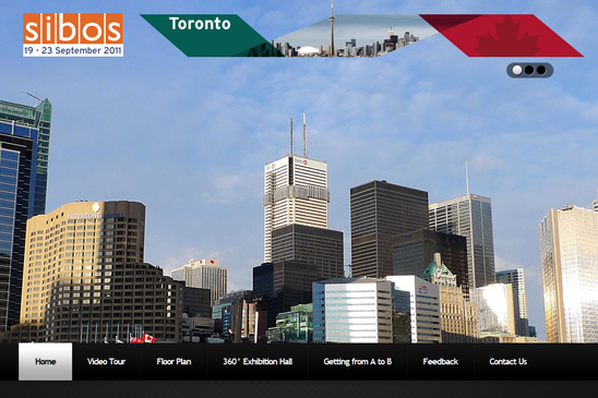 sibos toronto conference website, conference website design, conference photography, exhibition video, conference virtal tours, venue video, venue 360s, zoom productions